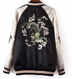 8e6a3019c98 Fashion 2017 Autumn Vintage Embroidered Bomber Jacket Women basic coats  Both Sides Jackets Winter Pilots Outerwear