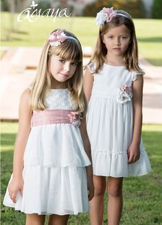 AMAYA VESTIDO FIESTA CEREMONIA 2015 Cute Girl Dresses, Girls Casual Dresses, Lovely Dresses, Little Girl Dresses, Simple Dresses, Cute Outfits For Kids, Toddler Girl Outfits, Preteen Girls Fashion, Kids Fashion