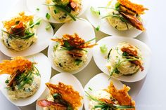 Jalapeno Popper Deviled Eggs via i am food blog