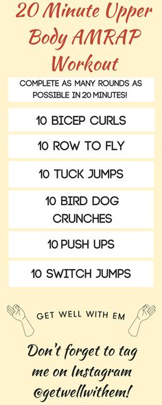 Squeeze this 20-minute Upper Body AMRAP Workout into your day using just one set of dumbbells and a timer! Low-impact, at-home workout to build strength and tone up!