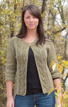 Ravelry: Bobble-Vine Jacket (W314) pattern by Edie Eckman Motif makes a gorgeous scarf. KPer CeeJay42 added small cables up each side.