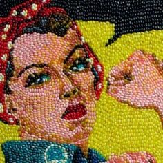 Several Classic Artworks Recreated Using Thousands Of Jelly Beans. Yummy! (addicting side with lots of DIY-projects).