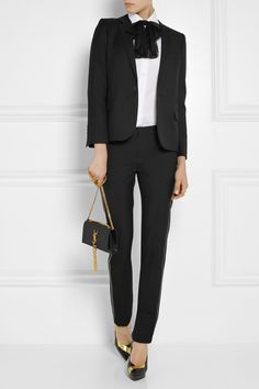 Saint Laurent | Virgin wool-gabardine blazer | NET-A-PORTER.COM