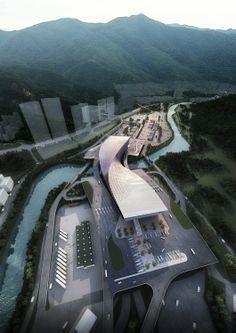 """Twisted Link"" Liantang / Heung Yuen Wai Boundary Control Point Passenger Terminal Building by WAU Design"