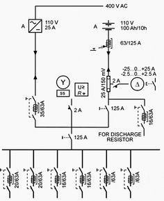 Single line diagram of major components of power system
