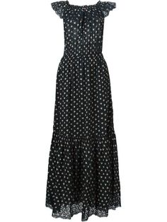 ULLA JOHNSON Ruffled Rose Print Gown. #ullajohnson #cloth #gown