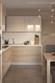 simple and modern style kitchen design for small kitchen decorating ideas or kitchen remodel. Kitchen Room Design, Kitchen Sets, Modern Kitchen Design, Home Decor Kitchen, Interior Design Kitchen, Apartment Kitchen, Small Modern Kitchens, Kitchen Layout, Modern Kitchen Cabinets