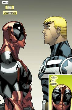 Deadpool meets Captain America