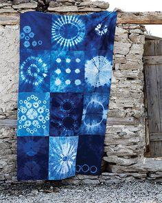 Shibori Bedspread - http://www.sweetpaulmag.com/crafts/shibori-bedspread #sweetpaul