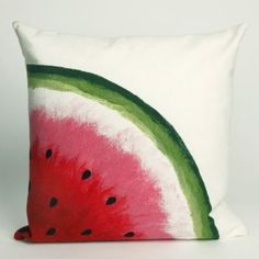 watermelon outdoor-pillow--looks easy enough to paint