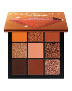 2018 NEW Huda Beauty Topaz Obsessions Palette Eyeshadow Pallete Matte Shimmer Nude Makeup Glitter Smoky Eye Shadow Powder Huda Beauty Makeup, Maquillaje Huda Beauty, Huda Beauty Eyeshadow, Nude Makeup, Matte Eyeshadow, Fall Makeup, Colorful Eyeshadow, Winter Makeup, Matte Lips