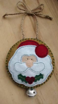 Felt Santa Christmas/Festive hanging decoration/tree ornament