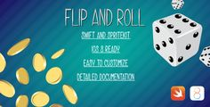 Flip&Roll Apple Watch app in Swift . Flip & Roll is the perfect utility app for the new Apple Watch! Think of how many times you 've had to make a decision, or you need or you needed dice to play something with your friends, now you will be always ready with this new app that allows you to roll one or two dice or flip a coin.The coin
