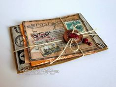 Use wax stamp and string or ribbon to bundle