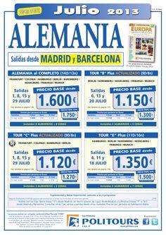 """ALEMANIA Tour """"E"""" Plus, salidas 4, 11 y 18/07 desde Mad y Bcn (11d/10n) p.f. 1.500€ - http://zocotours.com/alemania-tour-e-plus-salidas-4-11-y-1807-desde-mad-y-bcn-11d10n-p-f-1-500e-2/"""