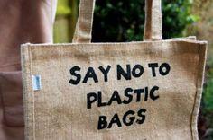 11. Instead of plastic shopping bags, opt for a) no bag, b) a reusable cloth bag, or c) a paper bag.