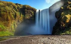 Image result for mountain waterfall