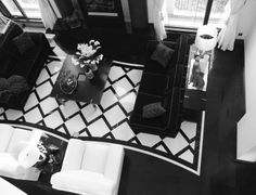 Graphic marble floor