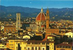 The postcard came from Italy.  Firenze.