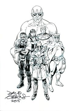 Watchmen Promo Poster Dave Gibbons
