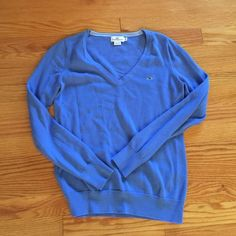 Vineyard Vines V Neck Sweater Vineyard Vines V Neck Sweater. Light blue in perfect condition, only worn a couple of times. Size Medium. 100% cotton. Only worn once! Vineyard Vines Tops Tees - Long Sleeve