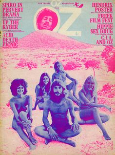 "rmgdesign:  #Oz #magazine psychedelic-sixties:  ""Travel OZ"" OZ Magazine, Issue 30  (October 1970)"