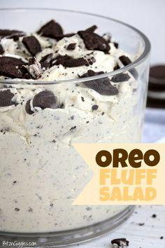 Fluff Desserts, Oreo Dessert Recipes, Dessert Salads, No Bake Desserts, Easy Desserts, Delicious Desserts, Yummy Food, Oreo Pudding Dessert, Simple Sweets Recipes