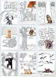 Foto: free kids art templates! http://buff.ly/1giZXDW