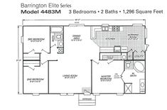 single wide trailer house plans | Double Wide Mobile Home Floor ...