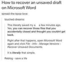 SPREAD THIS LIKE WILDFIRE... I'm trying this, hopefully it does work- how to recover lost microsoft files