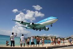 KLM Boeing 747-400 (PH-BFN). This is the one everybody waits for.  Drop your drinks and grab your cameras! KLM's 747 from Amsterdam is only seconds away from burning rubber on runway 10 at St Maarten - 2010.
