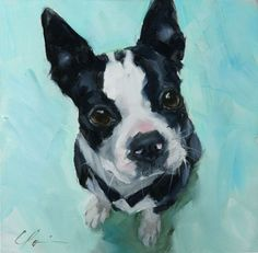 This artist is already doing what I would like to do some day - paint pictures of animals up for adoption and give part of the proceeds to the shelter. Awesome!