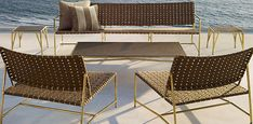 Great Palm Springs Mod-type outdoor furniture set!!!  I'm in Love.  Montecito | Restoration Hardware