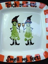 Halloween craft - I wish I had something like this from when the girls were small.