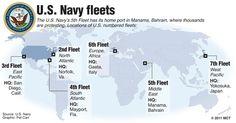Harbours Of The US Navy Fleet Geopolitics Geopolitk - Us navy fleet locations map