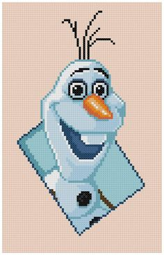 PDF Cross Stitch pattern 0038.Olaf Frozen INSTANT by PIXcross