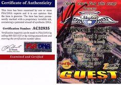 """VINCE NEIL Signed CUT """"GUEST PASS"""" PSA # AC32835"""