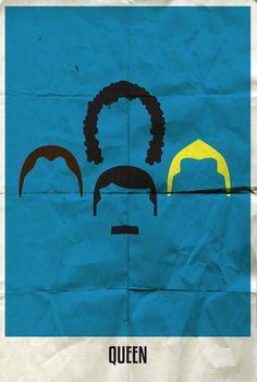 Rock band minimalist poster - Queen