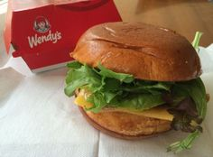 Smoked Gouda Chicken on Brioche from Wendys