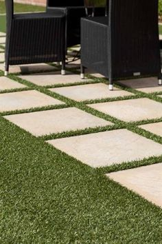 patio pavers with grass in between. 4 Ideas For Gardening With Artificial Grass Patio Pavers In Between