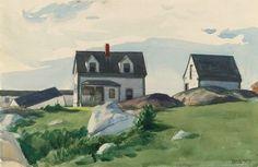 Edward Hopper, Houses of Squam Light, Gloucester, 1923