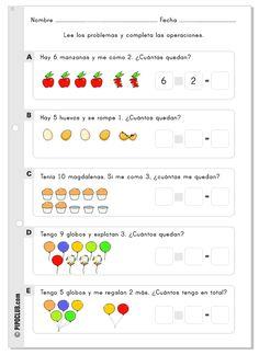 Ficha de problemas para Infantil y Primaria desde el blog de juegos educativos PIPO by @evapipo #fichas #problemas #matemáticas #educacion #SSL