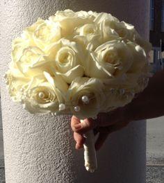 fin hvit brudebukket