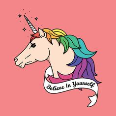 Poster with unicorn. Vector illustration with quote vector art illustration Unicorn Illustration, Illustration Art, Free Vector Graphics, Vector Art, Art Quotes, Clip Art, Fictional Characters, Kawaii Things, Third Birthday