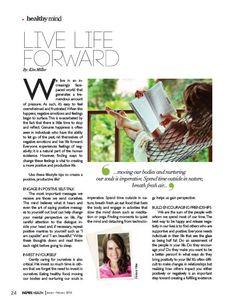 Live Life Forward, Inspire Health Magazine