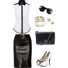 classic B by justyna-galka on Polyvore