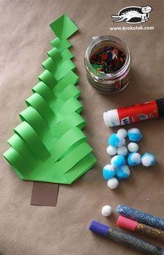 DIY Papel árboles de navidad Más