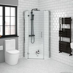 Add a modern touch to your bathroom with a Quadrant Shower Enclosure. Shop our vast range of Corner Shower Enclosures from Victorian Plumbing today. Square Shower Enclosures, Quadrant Shower Enclosures, Frameless Shower Enclosures, Modern Bathroom, Small Bathroom, Bathroom Ideas, Bathrooms, Downstairs Bathroom, Bathroom Styling