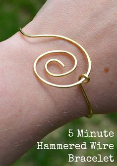 Simple Wire Jewelry: 5 Minute Bracelet