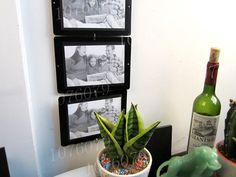 Il Trasporto libero 6 pz / set di frame di modo parete secondario foto Combinazione telaio della decalcomania fai da te cornice decorazione della casa